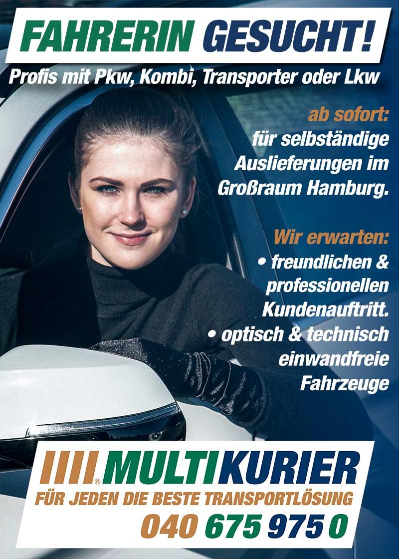 Fahrerin Gesucht - Multikurier